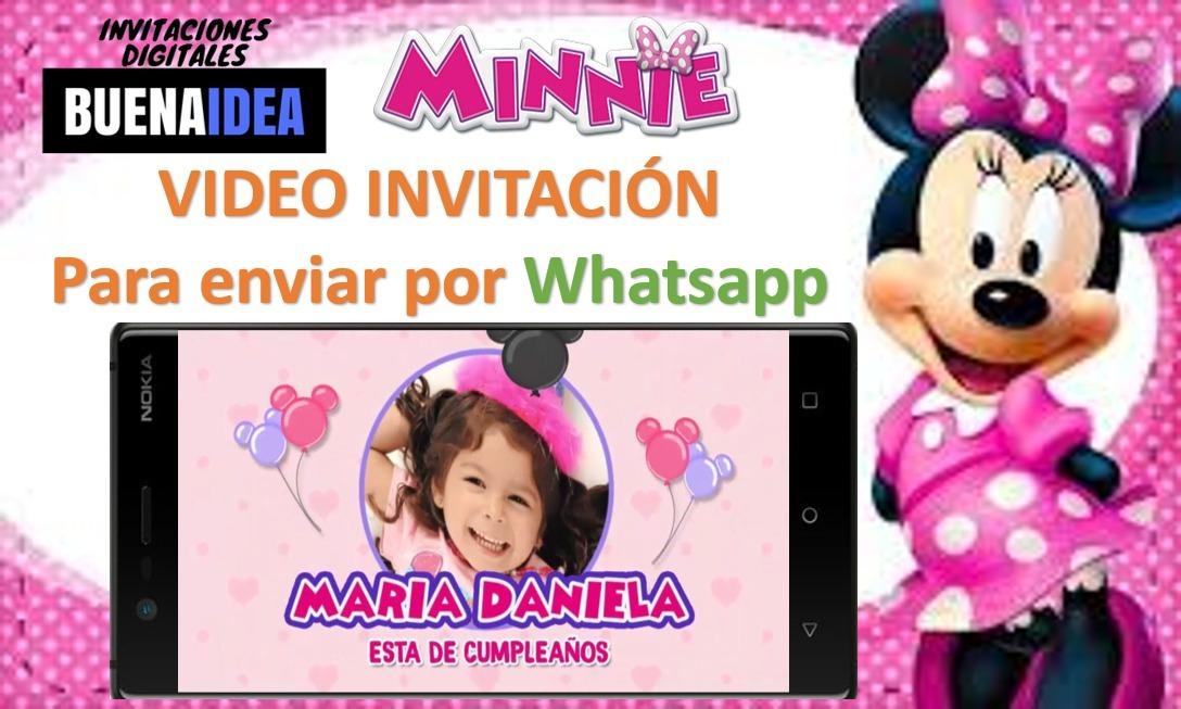 Minnie Invitación Virtual En Video Para Enviar Por Whatsapp 299