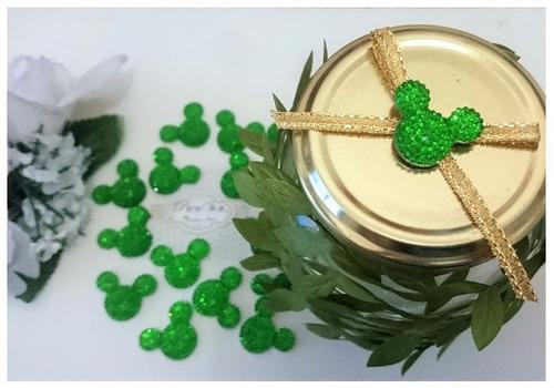 minnie mickey apliques x10 strass centros candys decoracion