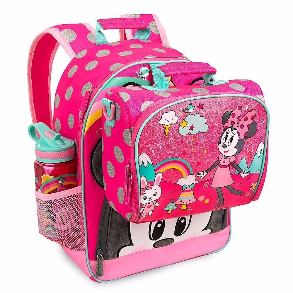 cf6a08df1 minnie mochila e lancheira rosa original disney store. Carregando zoom.