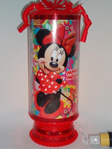 minnie mouse 10 lampara centro de mesa 38 cm altura enví inc