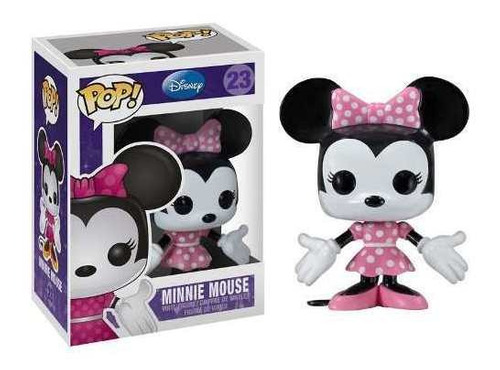 minnie mouse #23 ( roupa rosa ) - funko pop! disney