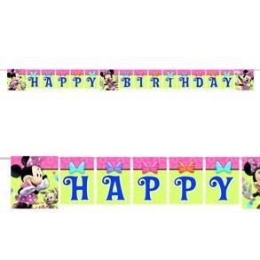 minnie mouse bow-tique - banderin para fiesta infantil