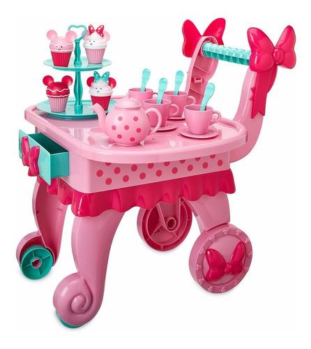 minnie mouse disney carro musical de te y pastelillos minnie