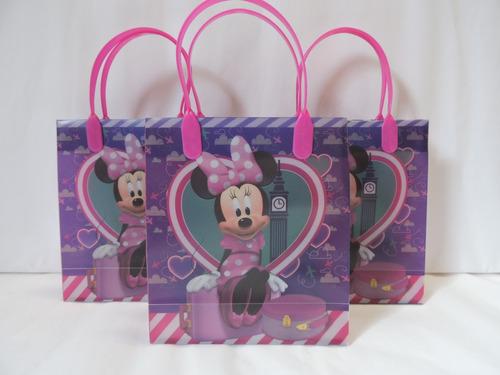 minnie mouse  dulceros fiestas bolsas 10 recuerdos morada