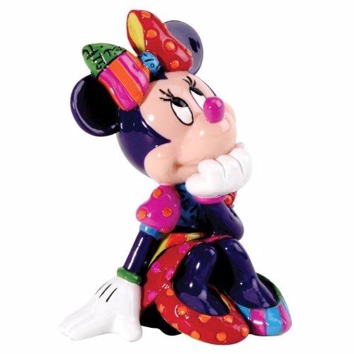 minnie mouse mini figurine romero britto disney - original
