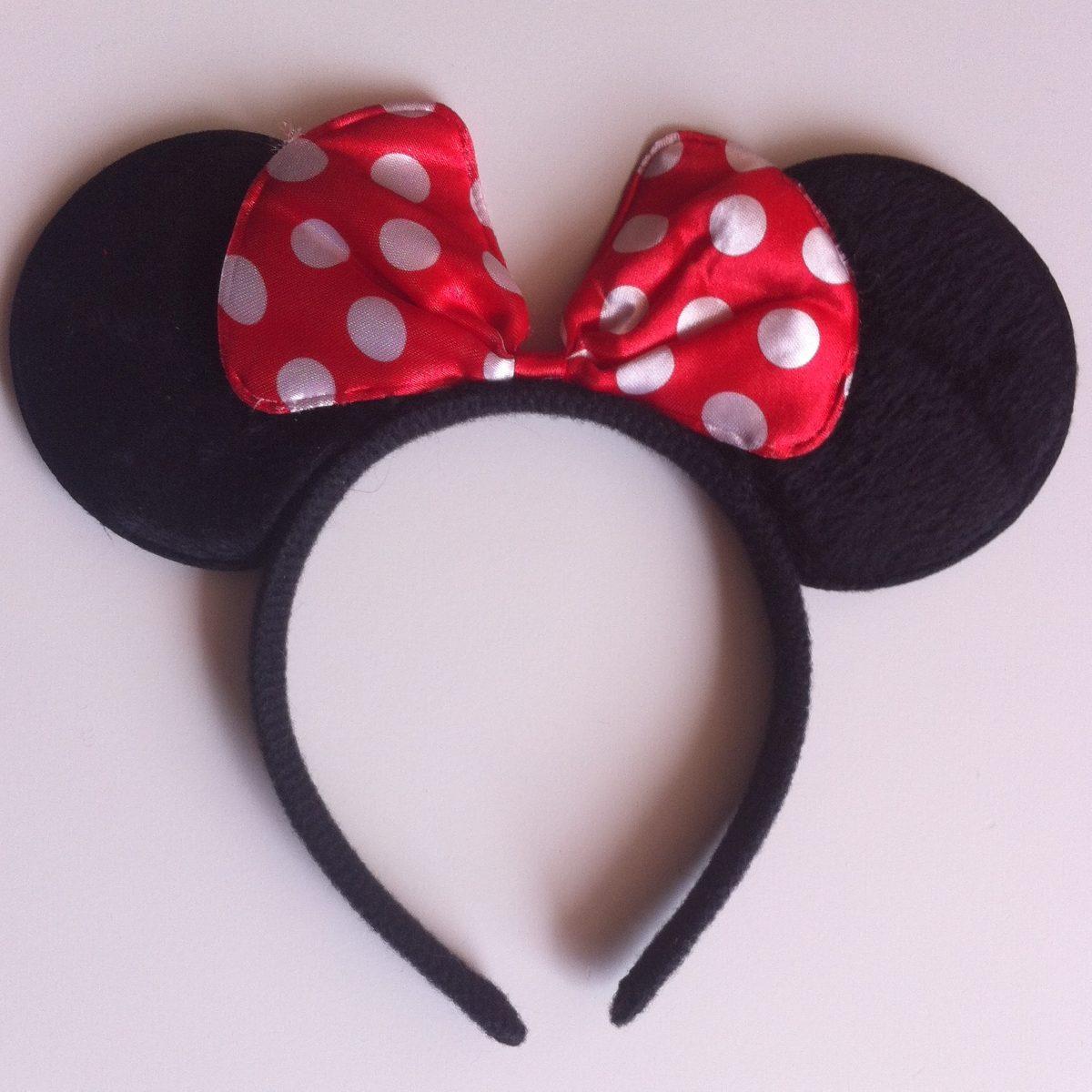 Minnie Mouse Orejas, Diadema, Niñas Balaca, Cintilla Moño