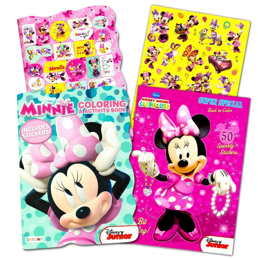 Perfecto Minnie Mouse Para Colorear Libros Ornamento - Enmarcado ...