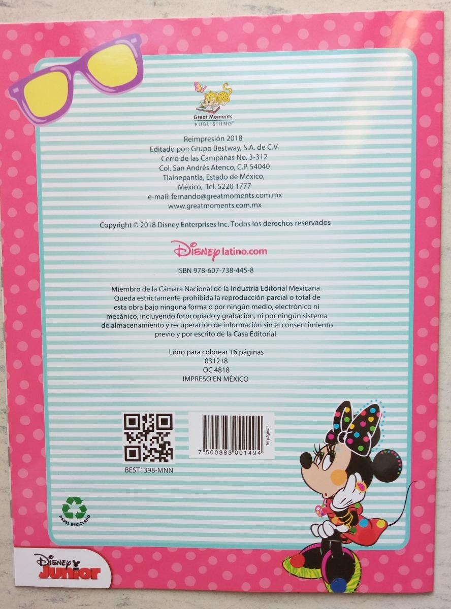 Minnie Mouse Set 20 Libros Iluminar Colorear Disney C Envio ...
