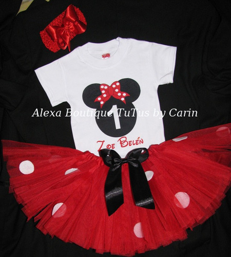 minnie mouse tutu vestido tutus 3 piezas  falda polo y lazo