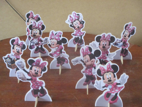 minnie rosa de mesa,display,festa infantil,mdf