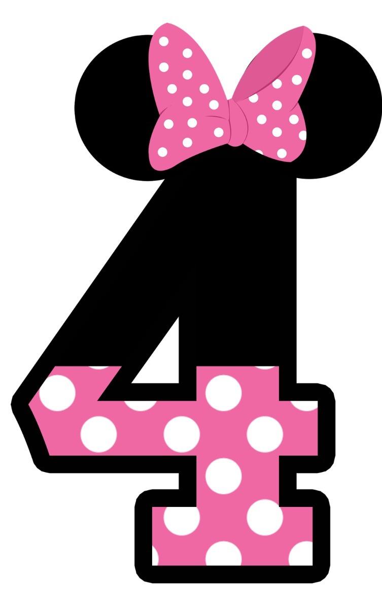 minnie rosa numero 4 com 1 peça de 60cm envio 48hs r 40 99 em
