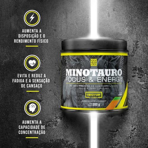minotauro pré treino 300g - iridium labs - cafeína + taurina
