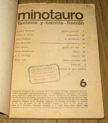 minotauro revista fantasía ciencia ficción 1965 - 8 relatos