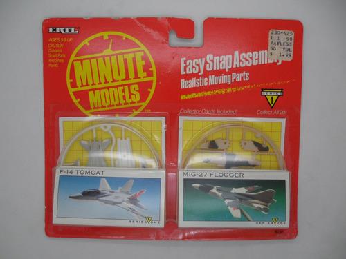 minute models ertl f-14 mig-27 flogger.