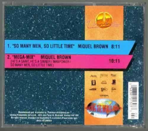 miquel brown so many men so little time cd single unidisc