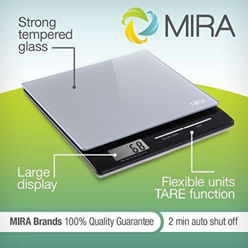 mira digital kitchen scalefood scale slim mult