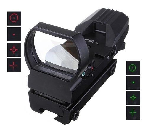 mira holografica tactica militar reflex 11mm / 20mm reticula