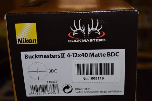mira nikon  nikon buckmaster 4-12x40 para rifle bdc