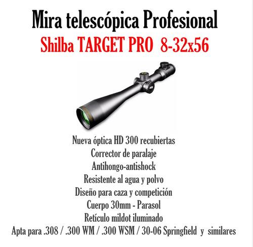mira profesional g3 shilba target pro 30 8-32x56 + anillas
