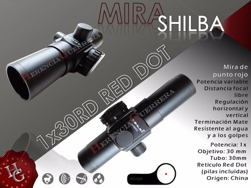 mira shilba red dot rd30 rifle fusil pistola airsoft tiro pr
