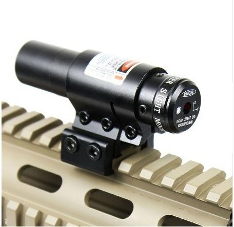 mira tactica laser red dot picatinny  p/ pistola o rifle