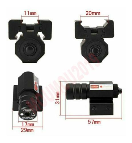 mira tática para trilho 11-21mm carabina red dot laser