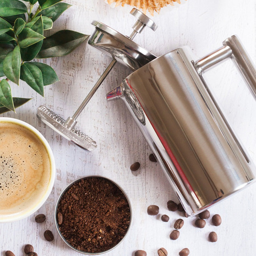 mira té de doble pared y café brewer prensa