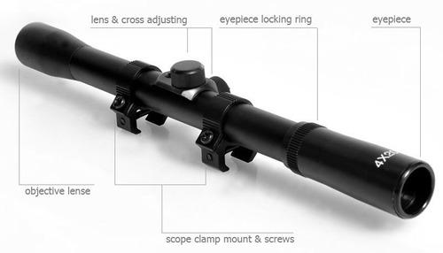 mira telescopica 4 x 20 clarity tiro montura ballesta rifle