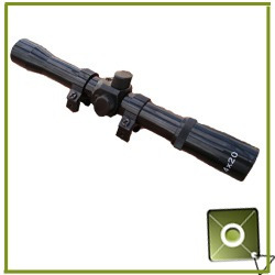 mira telescopica 4x20 para rifle aire neumatico gas pistolas