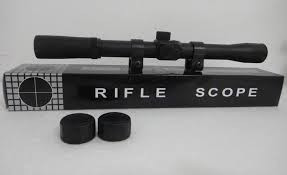 mira telescopica 4x20 rifles co2 neumatica ballestas scope