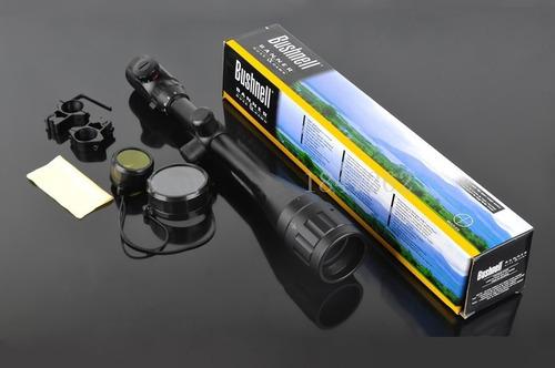 mira telescópica 6-24x50 bushnell, retroiluminada, para caza