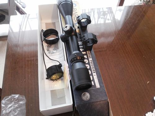 mira telescopica barska 3x12x40 ao + montura monoplaza