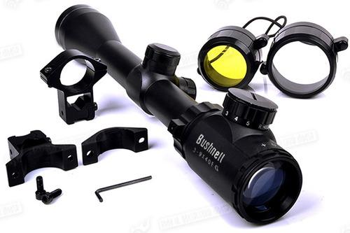 mira telescopica bushnell 3-9x40 rifles  retícula iluminada