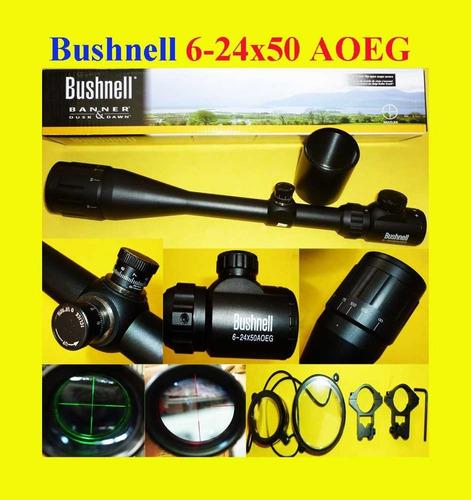 mira telescopica bushnell 6-24x50 caza rifle pcp cazeria