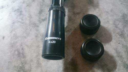 mira telescópica hammers 4x20. riflescope.