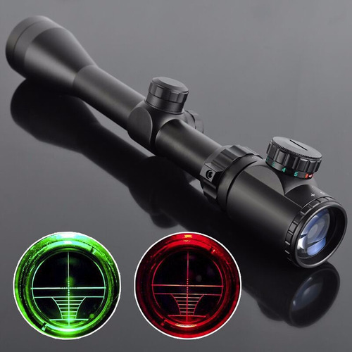 mira telescopica rifles pcp  caza iluminada 3-9x40 riel 11mm