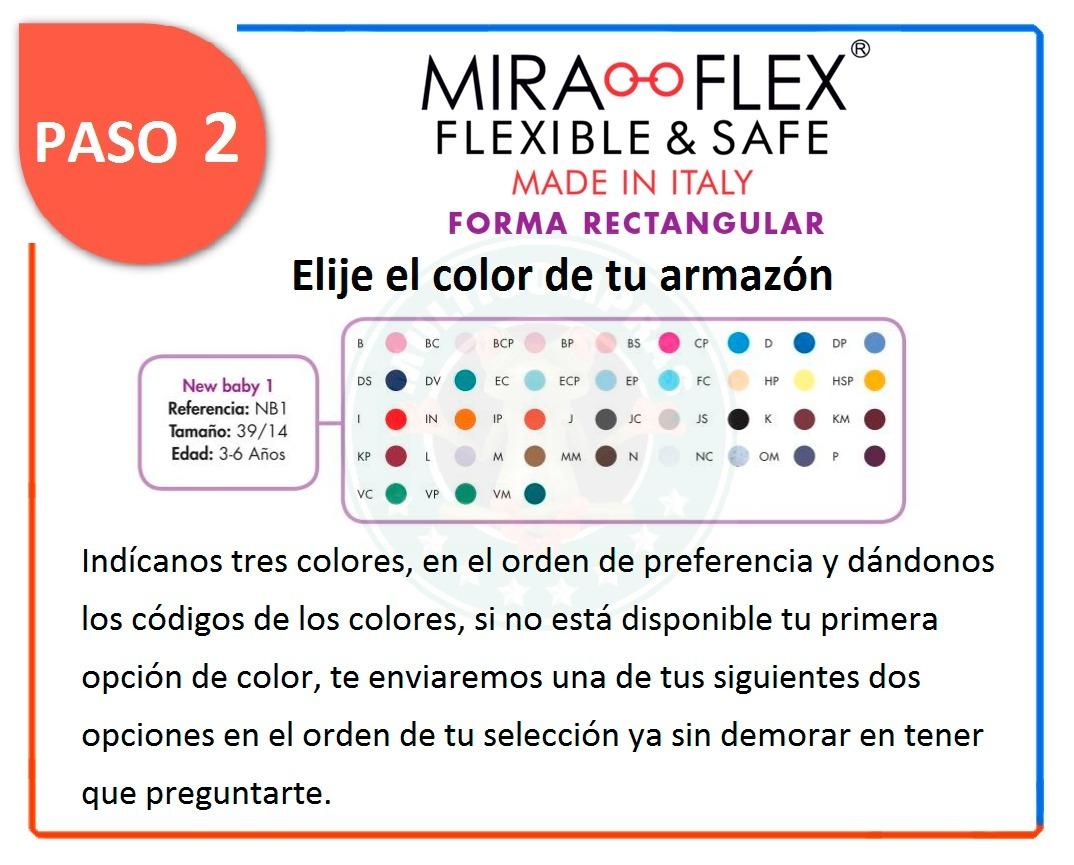 5cc1f9c284 Miraflex New Baby 1 Niños 2 A 4 Años 39/17 Lentes Armazon - $ 899.99 ...