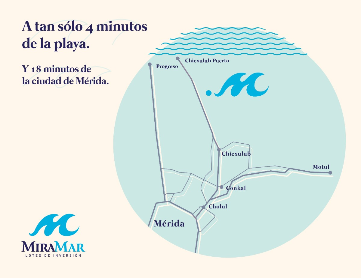 miramar - lotes en chicxulub puerto en mérida yucatán