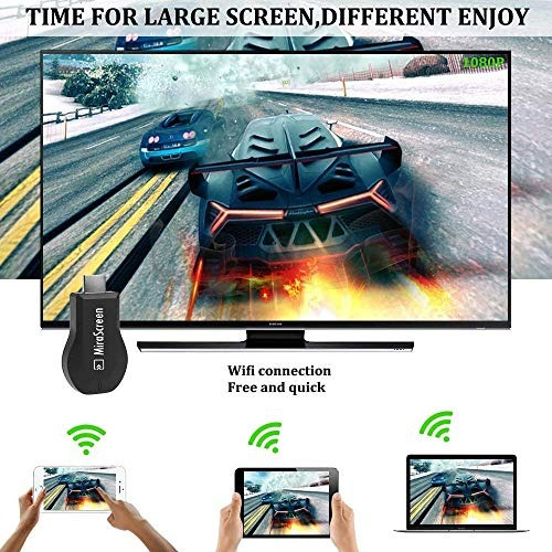 mirascreen wireless dongle f1de la visualización 1080p hdmi