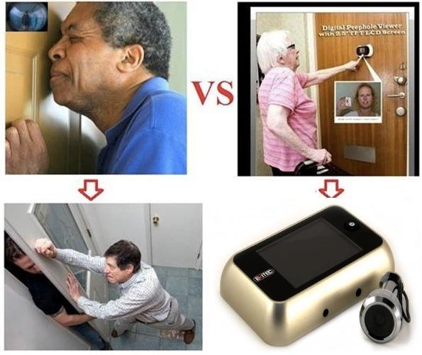 Mirilla digital o electronica para puerta vbf - Mirillas digitales para puertas ...
