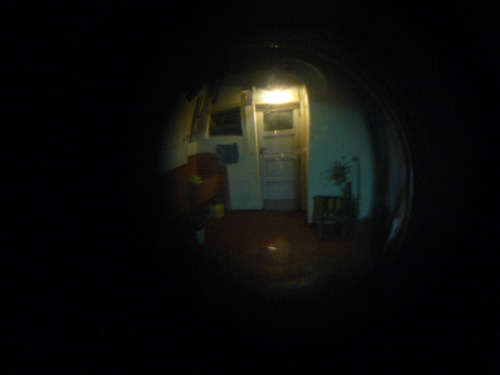 mirilla visor mirador optico para puertas bronce plateado