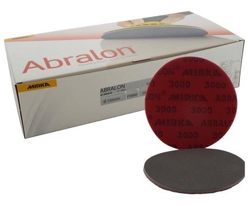 mirka - abralon lija grano 3000 - 6 pulgadas t/ trizact