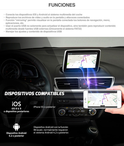 mirror mazda 6 connect mirrorlink funciona iphone y android