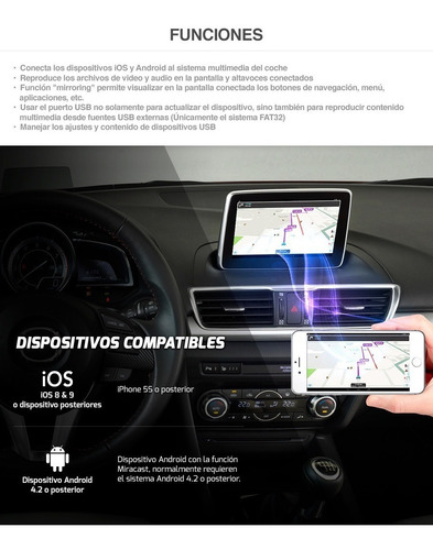 mirror mazda mx5 connect funciona iphone android mirrorlink