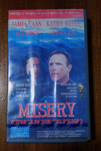 misery - kathy bates & james caan - vhs original.-