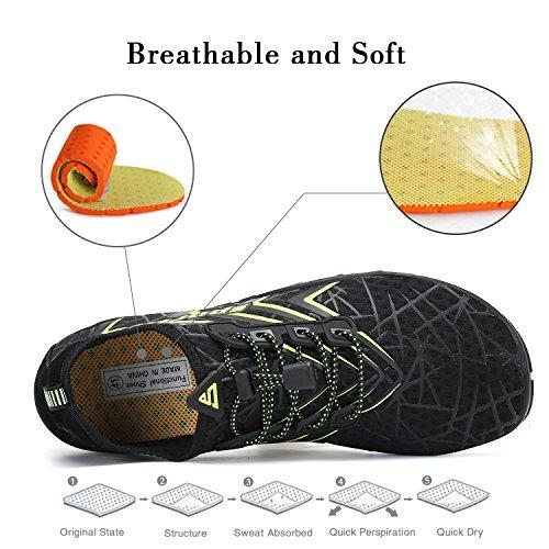 mishansha hombre para mujer zapatos de agua de secado rápido