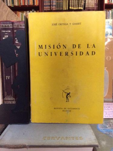 misión de la universidad, ortega y gasset