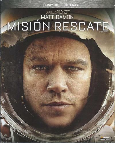 misión rescate blu-ray 3d + blu-ray nacional