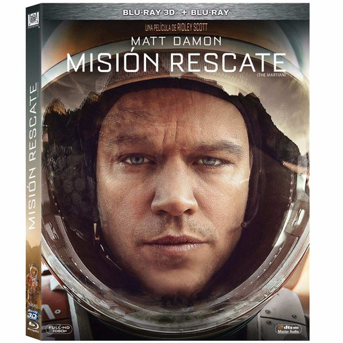 mision rescate the martian matt damon pelicula 3d + blu-ray