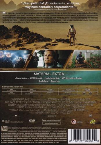 mision rescate the martian matt damon pelicula dvd